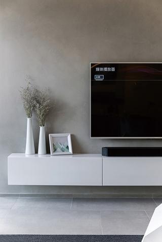 极简风格大户型装修电视柜图片