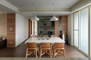 两室两厅简约风格装修餐厅吊灯图片