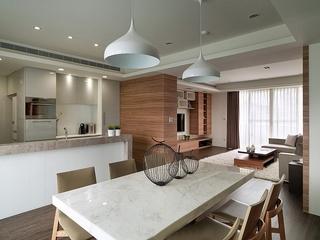 两室两厅简约风格装修开放式厨房图片