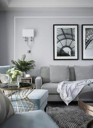 133㎡美式两室两厅背景墙图片