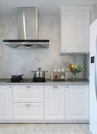 133㎡美式两室两厅厨房实景图