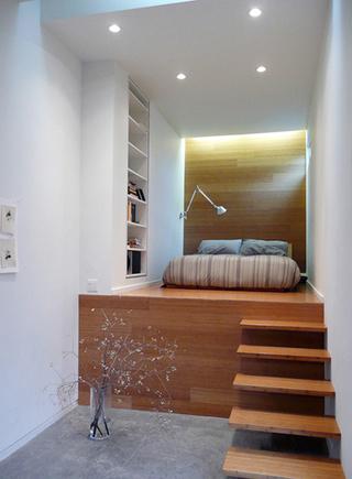 北欧风卧室楼梯图片