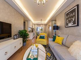 15万半包美式风格两居室 充满爱的空间