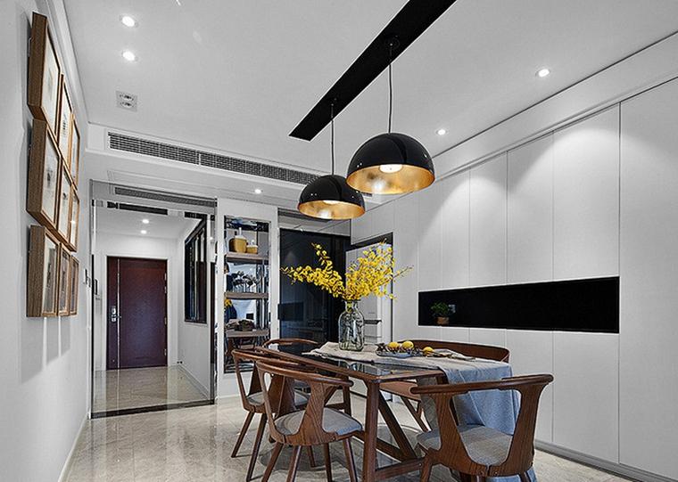 现代简约三居室餐厅效果图