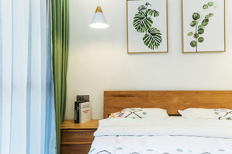 现代简约风格公寓装修卧室窗帘图片现代简约风格公寓装修
