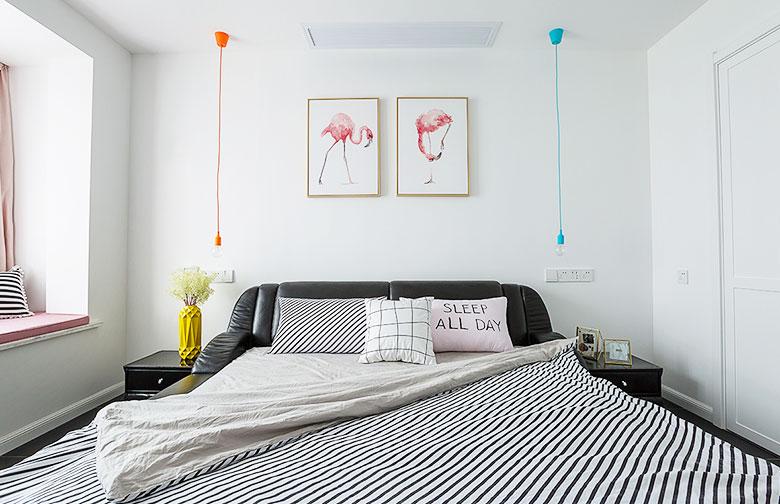 北欧混搭卧室装修图