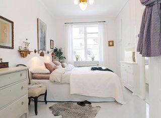 北欧风格卧室设计实景图