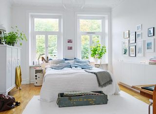 北欧风格卧室设计摆放图