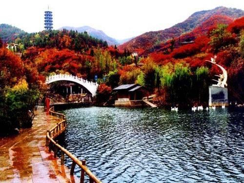 千佛山在济南市区的南部,它的海拔为285m,是全城景观的最高点.