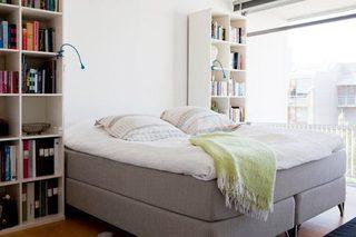北欧风卧室书架参考图