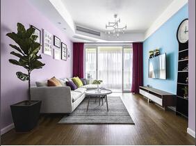 90平两居室装修 一个糖果色的家