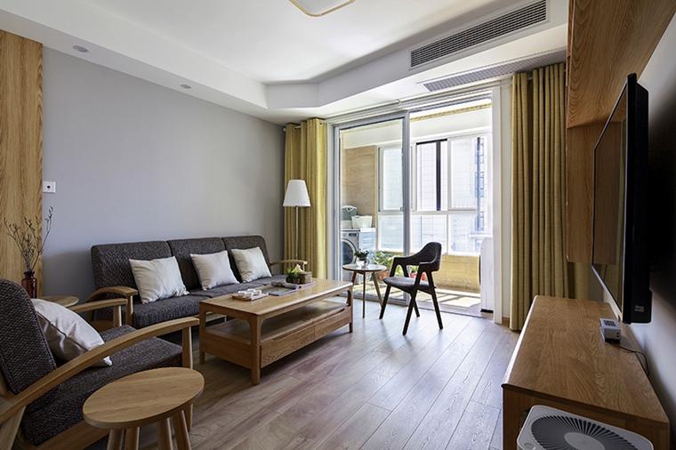 90平日式风格两居室装修客厅效果图