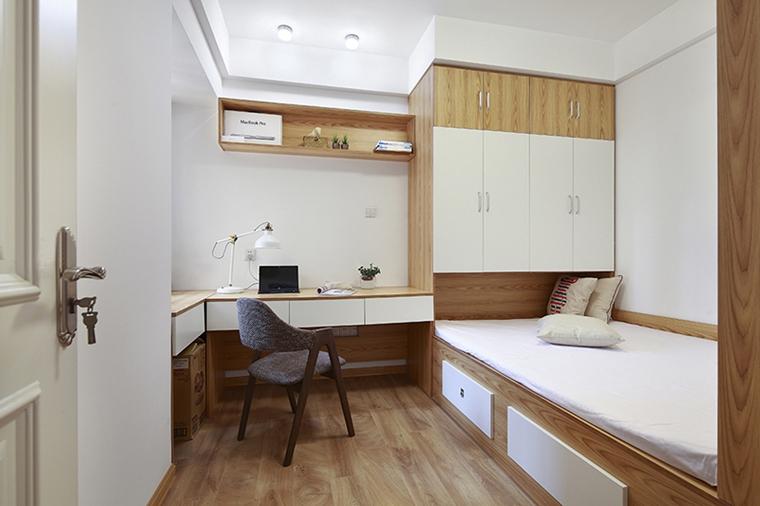 90平日式风格两居室装修小卧室效果图