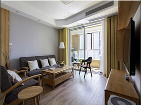 90平日式风格两居室装修 空间设计断舍离