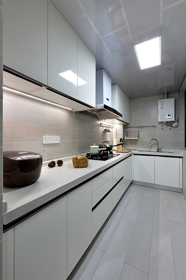 90平美式风格装修厨房效果图