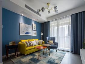 宜家风格两居室装修 最爱蓝调美家