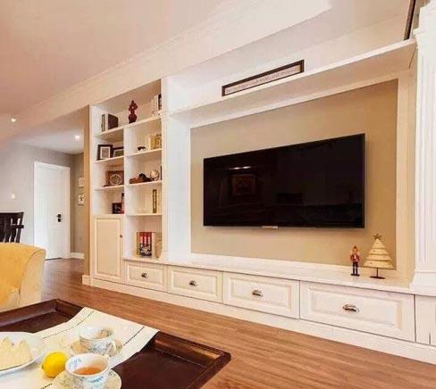 客厅电视背景墙装修欣赏图