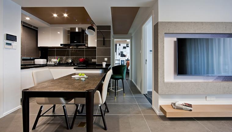 110平简约风格两居室装修餐厅效果图