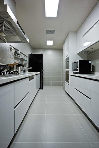 120平混搭风格装修厨房效果图