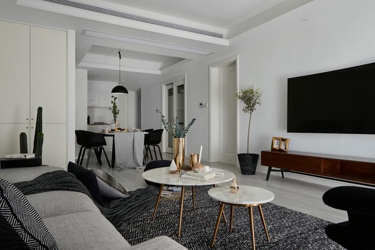 魅力北欧风格装修客厅绿植