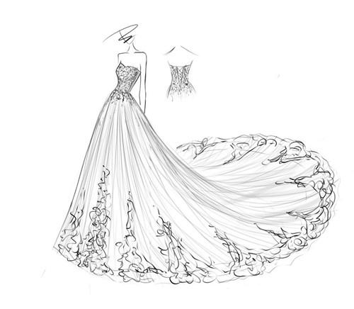 婚纱设计图片欣赏 画好设计图要具备什么