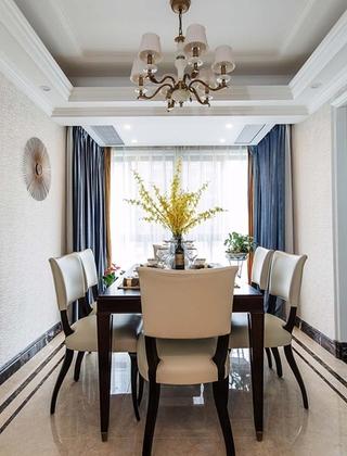130平美式风格三居室装修餐厅效果图