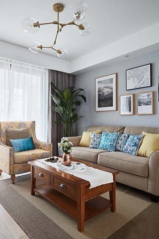 20万全包90平三居室布艺沙发图片