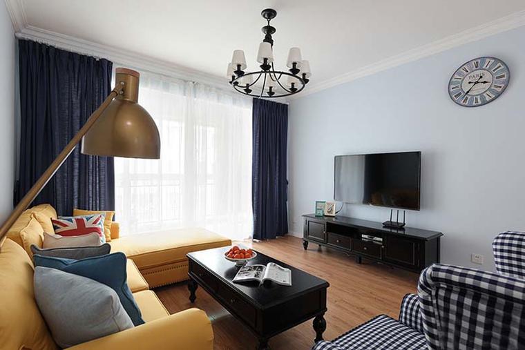 89平老房子翻新两居室小户型客厅图片