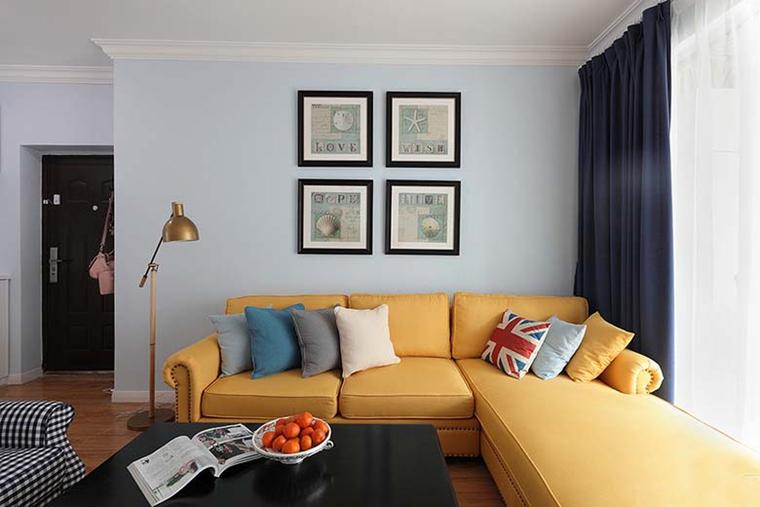 89平旧房翻新两居室小户型沙发