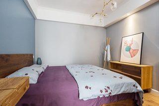 80㎡小户型北欧风卧室装饰图