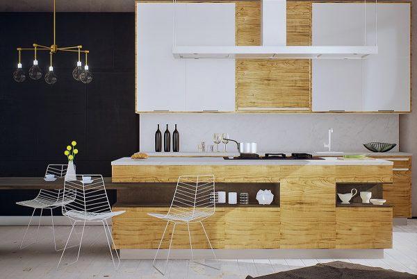 现代风厨房布置效果图