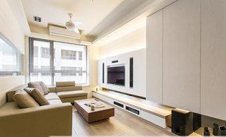 现代简约风格客厅装修构造图