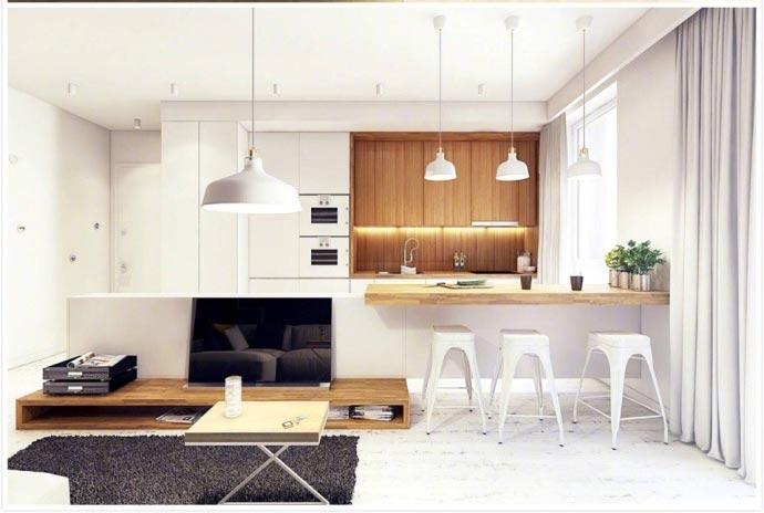 开放式厨房装修布置图