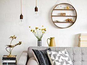 家居规则  10款收纳客厅背景墙效果图