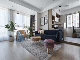 北欧风格三居室装修 乐活空间清新自然
