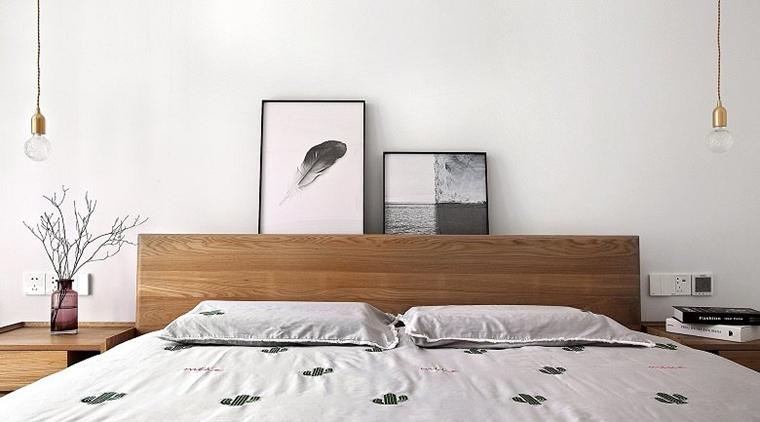 黑白调北欧风格装修卧室吊灯