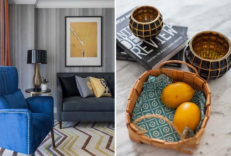 120平美式风格装修客厅地毯