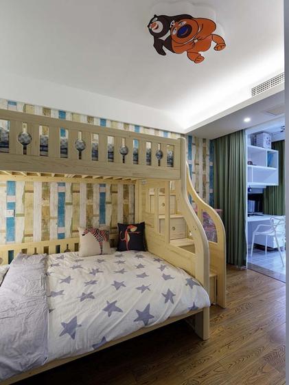 90平混搭风格装修儿童房图片