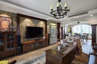 富有韵味的美式风格装修客厅效果图