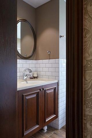 富有韵味的美式风格装修洗手台图片