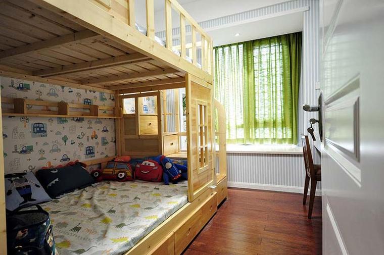 100平新中式风格装修儿童房效果图