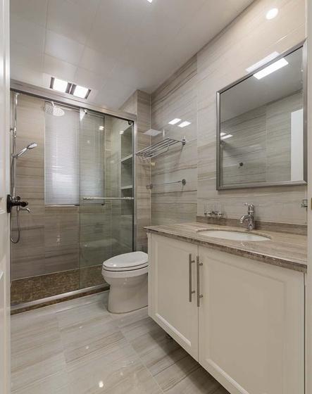 120平美式风格装修卫浴间装潢图