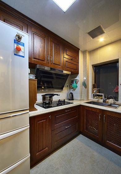 90平四居室装修厨房效果图