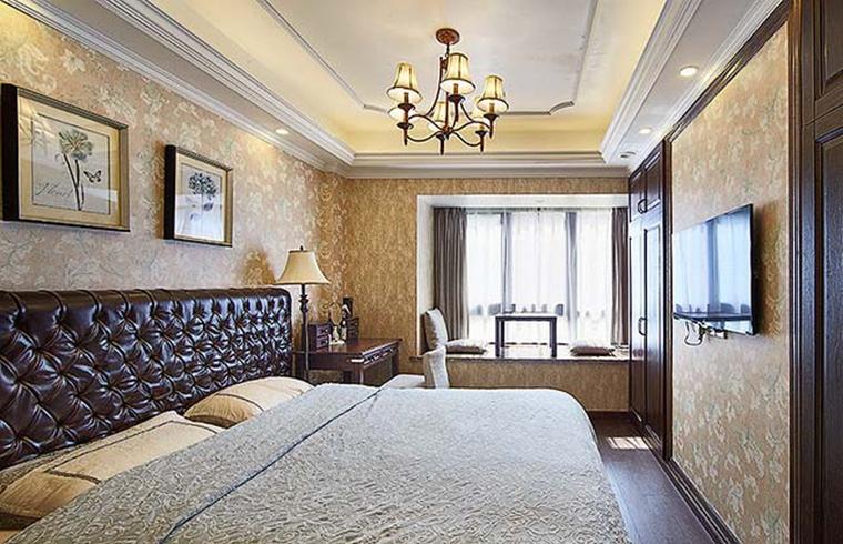 90平四居室装修卧室效果图