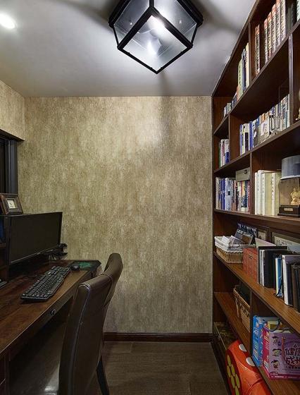 90平四居室装修书房效果图
