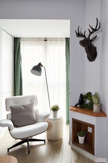 北欧风格三居室装修单人沙发