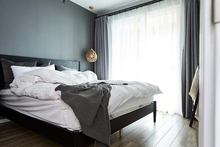 北欧风格三居室装修主卧装潢图