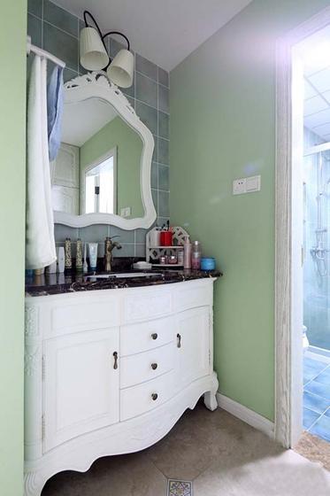 最漂亮的小复式装修洗手台图片