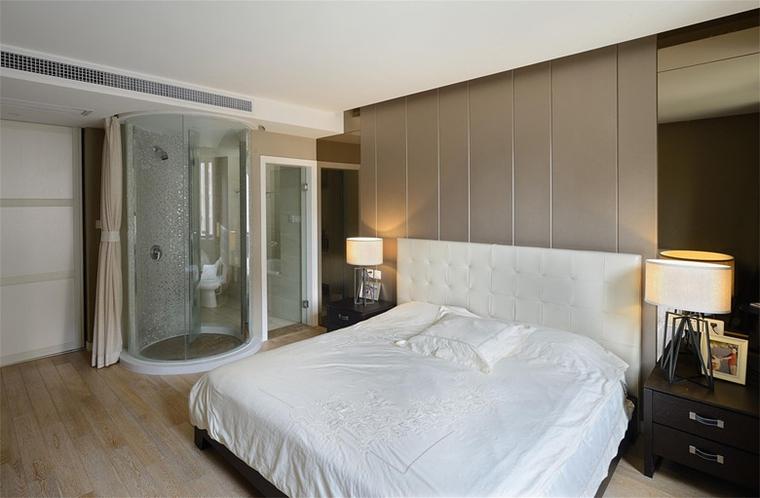 现代风格三居室装修主卧效果图