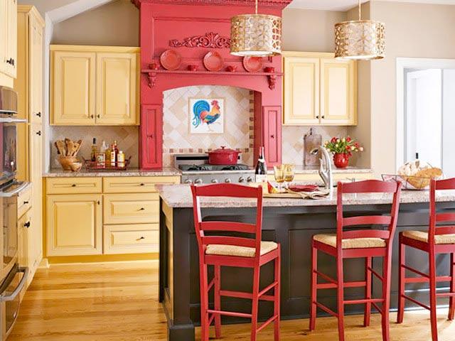 彩色厨房装修平面图